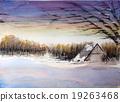 홋카이도 아사히카와 겨울 풍경 스케치 그림 19263468