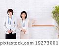 商務推薦2名女性在接待處 19273001