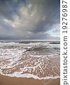 Stormy sky over rough Baltic Sea 19276987