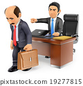 3D Businessman boss firing an employee 19277815