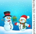 Christmas snowmen theme image 2 19278079