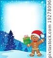Gingerbread man theme frame 1 19278096