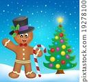 Gingerbread man theme image 4 19278100