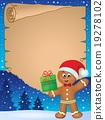 Gingerbread man theme parchment 1 19278102