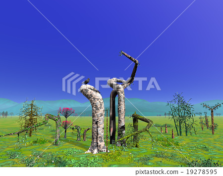Scenery with unusual trees 19278595