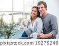 Young mixed race couple at home 19279240