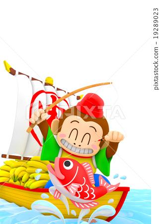 treasure ship, monkey, monkeys 19289023