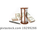 3d rendering Coins Hourglass of Business 19299266