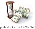 3d rendering Coins Hourglass of Financial 19299267