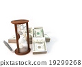 3d rendering Coins Hourglass of Investment 19299268