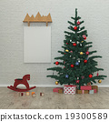 New year kids room,Christmas tree,presents, 3D 19300589