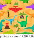 Dinosaurs Seamless Pattern 19307736