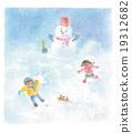 เด็ก,เด็กๆ,หิมะ 19312682