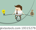 Business man balancing on the rope 19315276