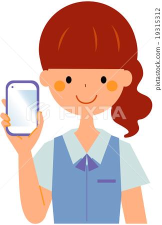 智能手机 女生 女孩 19315312