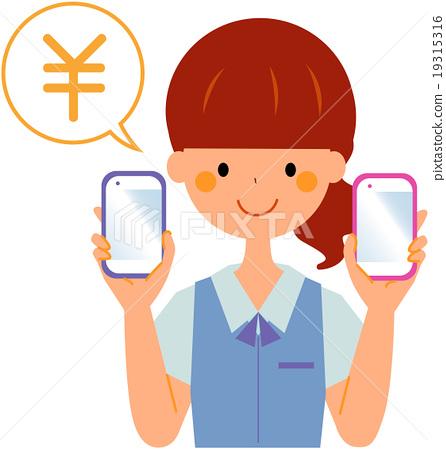 智能手机 女生 女孩 19315316