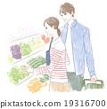 슈퍼에서 쇼핑하는 커플 19316700