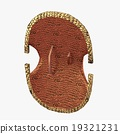 Bronze shield with curved ornament 19321231