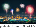 Fireworks to celebrate the birthday of the King 19324829