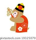 ภาพประกอบลิงบัตรปีใหม่ (สัญลักษณ์ราศี) (สีน้ำตาล) 19325070