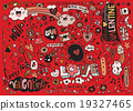Valentine doodle set ,hand draw love element 19327465