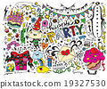 Hand Drawn of Doodle party background 19327530