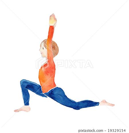 Yoga Crescent Pose 19329154