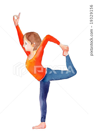 瑜伽之舞的姿勢 19329156