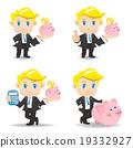 Business man with piggy bank 19332927