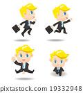 cartoon Business man run 19332948