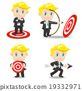 cartoon illustration Businessman archery target 19332971
