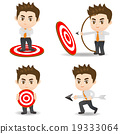 cartoon illustration Businessman archery target 19333064