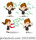 Business woman show finance money 19333092
