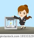 businesswoman show 3D printer 19333329