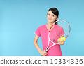 網球 咧嘴笑 開懷笑 19334326
