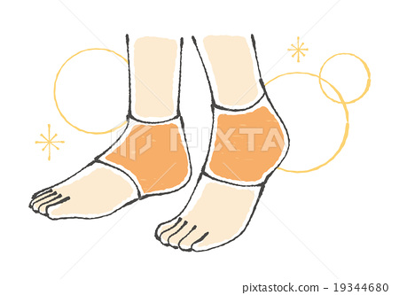 Illustrations for heels for socks 19344680