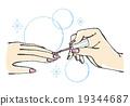 指甲 釘子 美甲 19344687