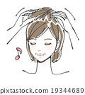Wig attachment illustration (middle woman) 19344689