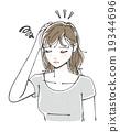 痤疮护理 苦恼 担心 19344696