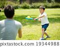 父母和小孩 擊球手 拍照 19344988