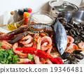 Fresh lobster and other seafood 19346481