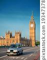 Taxi and Big Ben 19347378