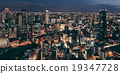Osaka night rooftop view 19347728