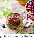 Herbal tea with fresh berries. Romantic background 19362261