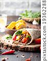 Vegan tortilla wrap, roll with lentil 19362288