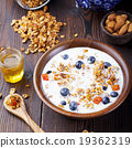 Healthy breakfast. Fresh granola, muesli, berries 19362319