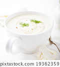 Cauliflower soup with dill and seasoning 19362359