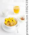 Healthy breakfast Corn flakes, muesli, granola 19362439