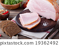 Pork ham with fresh salad and vegetables. 19362492
