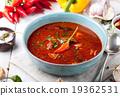 Goulash, beef, tomato, pepper, chili soup. 19362531